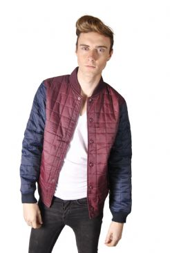 Mens Quilted Baseball Jacket